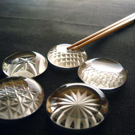 江戸切子のお箸置き(クリア)