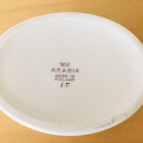 Arabia/アラビア/Esteri Tomula/エステリ. トムラ/お花柄の蓋つき小物入れ/ブルー系