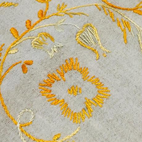 ヴィンテージテーブルクロス/刺繍/綿.リネン混