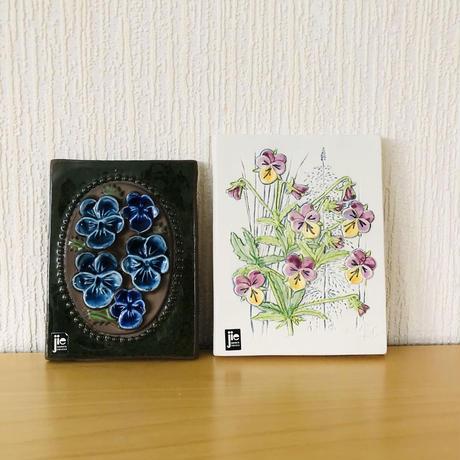 Jie Gantofta/ジィガントフタ/陶板/ヴィオラのお花2種/2枚セット