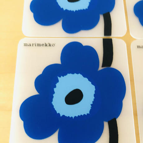 Marimekko/マリメッコ/Unikko/ウニッコ/プラスティック製コースター/6枚セット