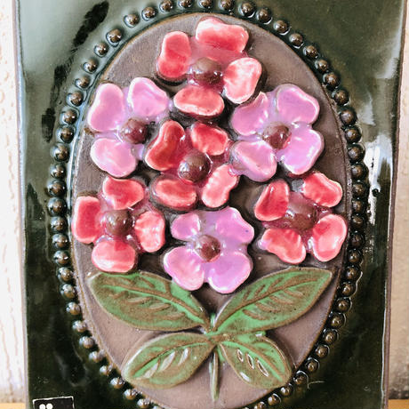 Jie Gantofta/ジイガントフタ/陶板/ツリガネソウとピンクのお花/2枚セット