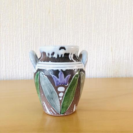 Laholm Keramik/ラホルム セラミック/チューリップ柄のフラワーベース
