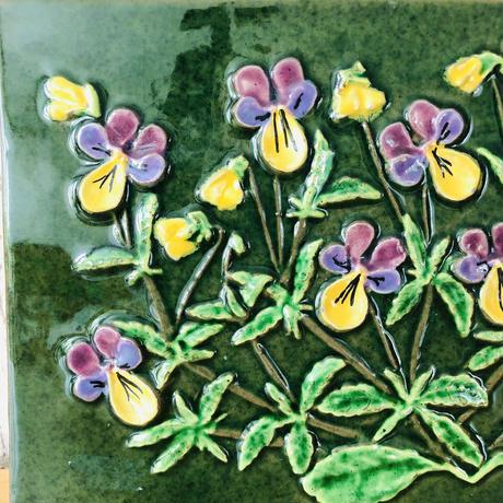 Jie Gantofta/ジィガントフタ/Gabriel/ガブリエル/陶板/ヴィオラのお花とカプリフイオールのお花/2枚セット