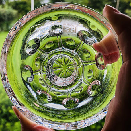 Riihimäen Lasi/リイヒマエン-ラシ/クリスタルガラスのキャンドルホルダー/2個セットオリジナルケース入り未使用品