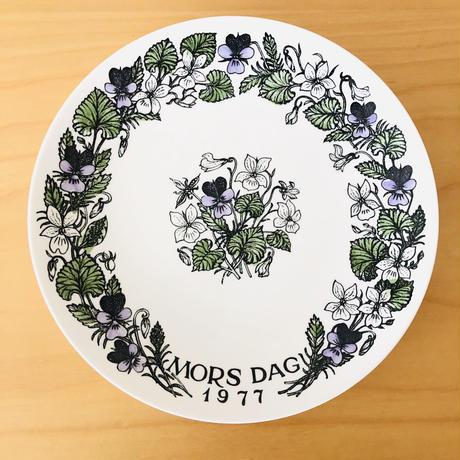 Gustavsberg/グスタフスベリ/Mors Tallrik/マザーズ プレート/1977年/お母さんへヴイオラの花を