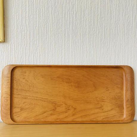 Uppsala Slöjd/ウプサラ手工芸/チークのトレイ/50cm x 21,5cm