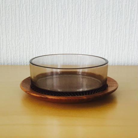 Karl Holmberg/カール.ホルムベリ/チークとガラスの器