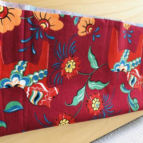 Arvidssons Textil/アルヴィッドソン テキスタイル/Carola Bengtsson/カローラ.ベングソン/レークサンド/ワインレッド