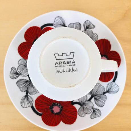 Arabia/アラビア/Isokukka/イソクッカ/カップ&ソーサー/CS-01