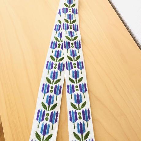 トレイハンガー/ブルーとパープルのチューリップの織柄/テキスタイル