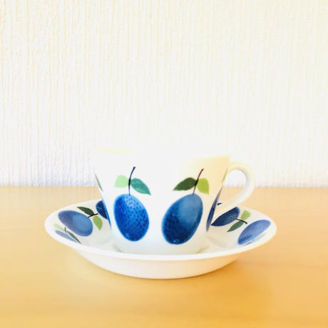Gustavsberg/グスタフスベリ/Prunus/プルーヌス/カップ&ソーサー/訳あり