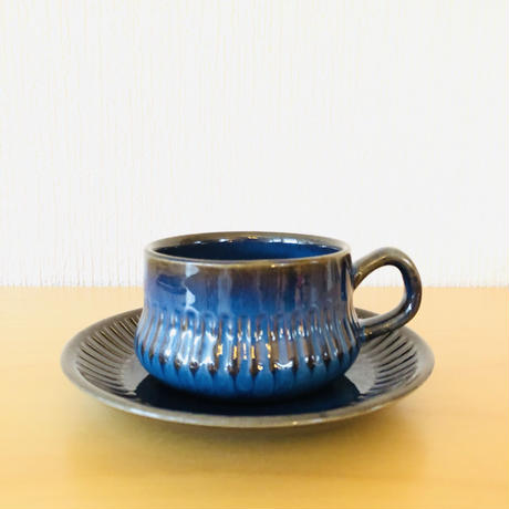 Gefle/ゲフレ/Kosmos/コスモス/ブルー/ティーカップ&ソーサー/TCS-02