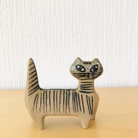 Gustavsberg/グスタフスベリ/Lisa Larson/リサ ラーソン/Lilla Zoo/小さな動物/立ちネコ/訳あり