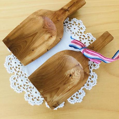 北欧伝統工芸品/Kåsa/コーサ/木製スプーン/2個セット