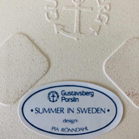 Gustavsberg/グスタフスベリ/Pia Rönndahl/ピア ルンダール/陶板/Summer in Sweden