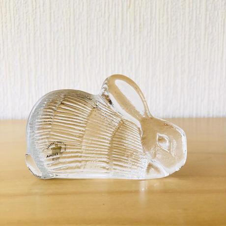 Royal Krona/ローヤルクローナ/Lisa Larson/リサ ラーソン/ガラスのオブジェ/ウサギさん