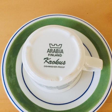 Arabia/アラビア/Krokus/クロッカス/カップ&ソーサー/カラー/訳あり