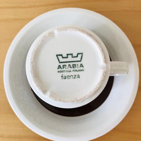 Arabia/アラビア/Faenza/ファエンツァ/カップ&ソーサー/CS-04