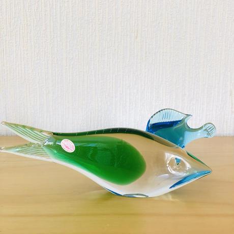 ハンドメイドガラス/ヴィンテージガラス/熱帯魚のオブジェ/2匹セット