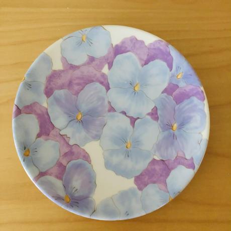イタリア製/ハンドペイント/ヴィオラのお花のプレート