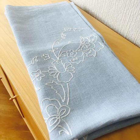 ヴィンテージテーブルクロス/刺繍/リネン