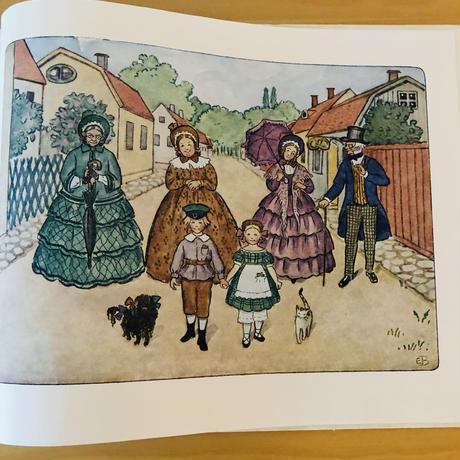 Elsa Beskow/エルサ ベスコフ/絵本/ヴィンテージ/Tant grön Tant brun Tant Gredelin/グリーンおばさん,ブラウンおばさんとグレデリンおばさん