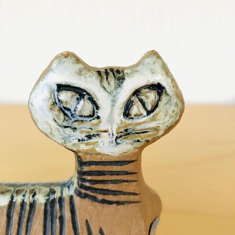 Gustavsberg/グスタフスベリ/Lisa Larson/リサ ラーソン/Lilla Zoo/小さな動物園シリーズ/立ち猫