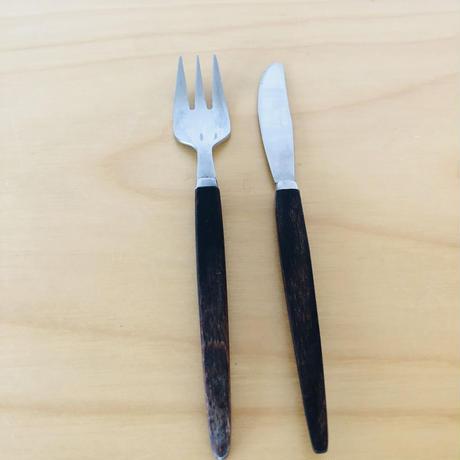 ローズウッドハンドルのカトラリー/デザート、前菜用/1セット