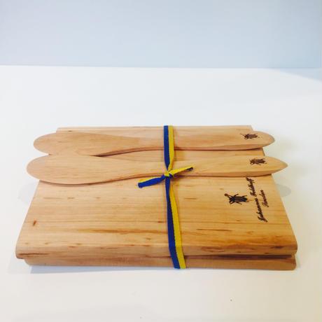 パンプレート/木製/バターナイフ/2枚、2本セット