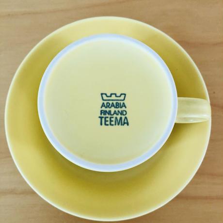 Arabia/アラビア/Teema/ティーマ/ティーカップ&ソーサー/イエロー