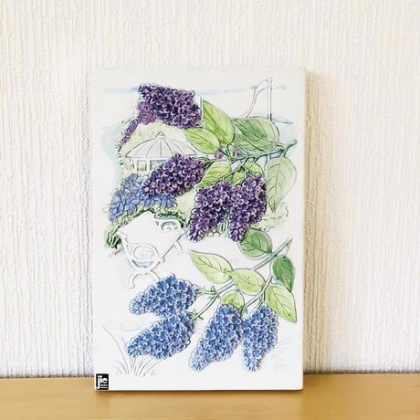 Jie Gantofta/ジィ ガントフタ/陶板/ライラックの花