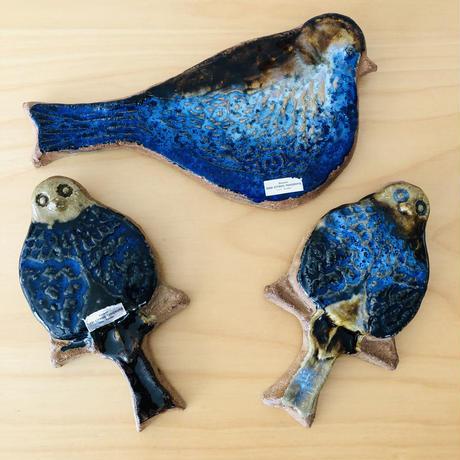 Gabi Citron-Tengborg/ガヴィ.シトロン/陶板/ブルーが綺麗な鳥さん