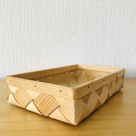 北欧伝統工芸品/Spånkorg/スポンコリ/brödkorg/バンズバスケット/Frösö/フルーソーハンドプリントクロス付き