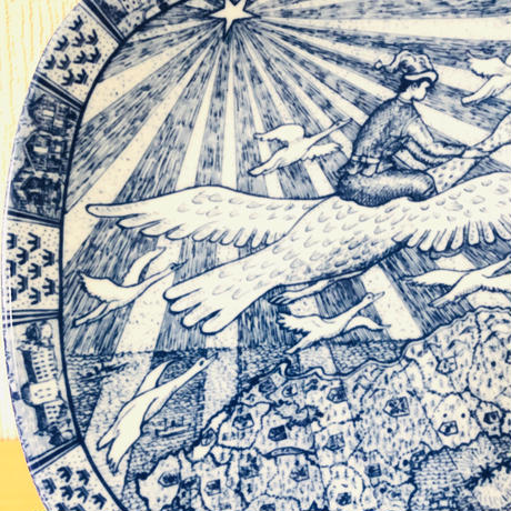 Rörstrand/ロールストランド/Gunnar Nylund/グンナ.ニールンド/1970年〜1980年/ニルスの不思議な旅/10周年記念プレート