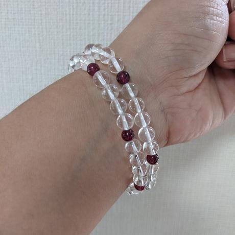 宝石質のルビーとガネッシュ産ヒマラヤ水晶(ルビー6珠)