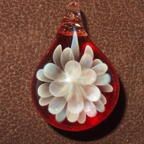 [MCN-76] mini clear flower pendant
