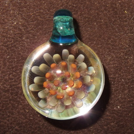 [MCF-36]mini clear flower pendant