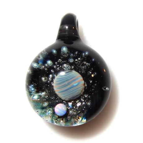 [UWP-33]glasxy double planet pendant
