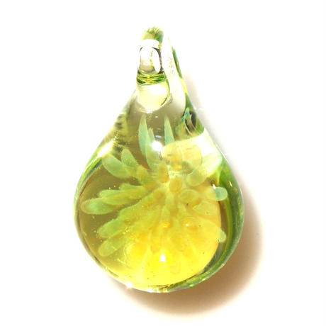 [MCYF-62]mini clear yellow flower pendant
