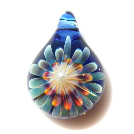 [MCUN2-99] mini clear unber flower pendant