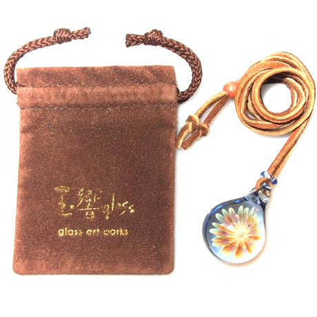 [MCUN3-09] mini clear unber flower pendant