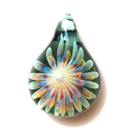 [MCUN2-60] mini clear unber flower pendant