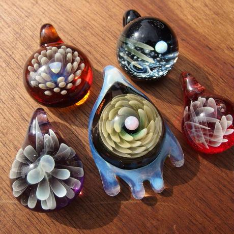 [MCN-83] mini clear flower pendant