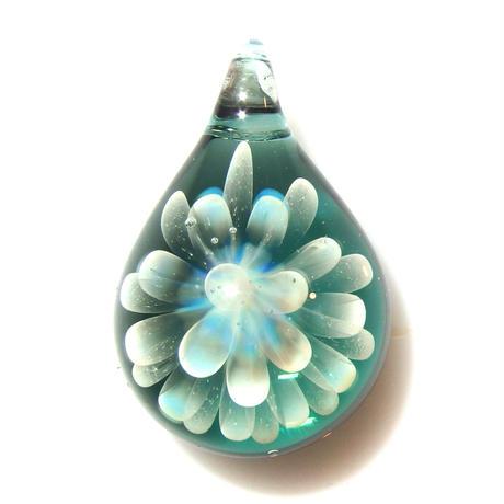 [MCN2-16] mini clear flower pendant