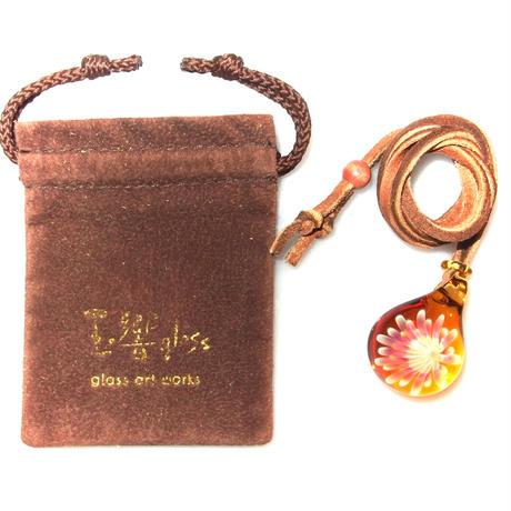 [MCUN3-03] mini clear unber flower pendant