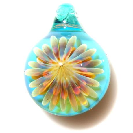 [MCUN2-58] mini clear unber flower pendant
