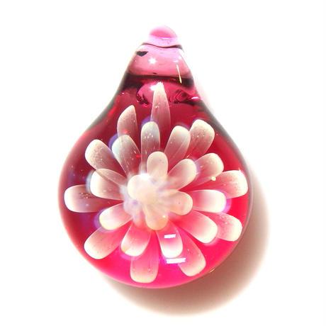 [MCN2-25] mini clear flower pendant