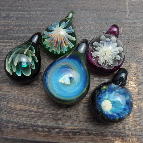 [GSO-03] gradation spiral opal pendant
