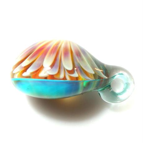 [MCUN3-08] mini clear unber flower pendant